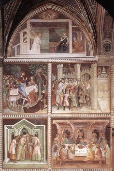 BARNA DA SIENA  Scenes from the New Testament  c. 1340  Fresco, height 800 cm  Collegiata, San Gimignano