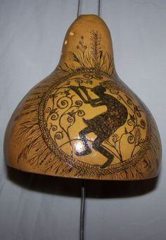 Thunder Gourd Drum Kokopelli OOAK by endlessenergy on Etsy