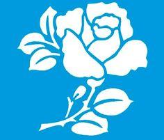 Stencil de Rosa 10 x 10cm - STX - 031 - Stencil 10 x 10cm ...