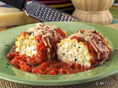 Mr. Food's Lasagna Rollups - I made this for dinner tonight & it was awesome.  Just added 1 lb ground beef (grind for 10 secs in food processor) to the cheese mixture.  Yummmmm!