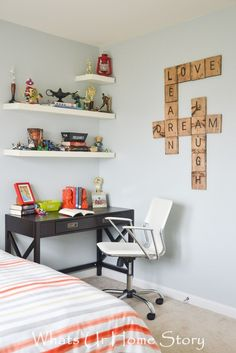 Tween -Teen boy bedroom makeover with Big Lots. - Home Decor