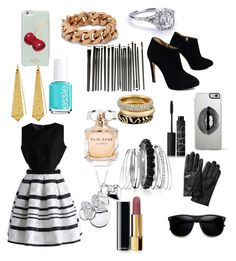 """""""Untitled #310"""" by sparkle-4 ❤ liked on Polyvore featuring Giuseppe Zanotti, Chicwish, Banana Republic, Lipsy, Kate Spade, Elie Saab, Chanel, NARS Cosmetics, Essie and Avenue"""
