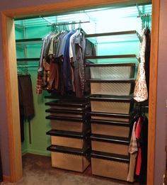 closet re-organization idea