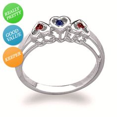 I've tagged a product on Zales: Sterling Silver Sisters Birthstone Heart Ring