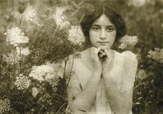 Émile Joachim Constant Puyo (French, 1857-1933). Vintage photograph of young woman in garden.