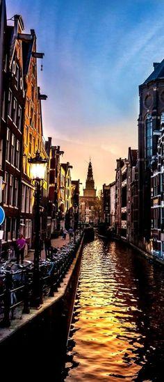 Amsterdam - A beautiful sunset