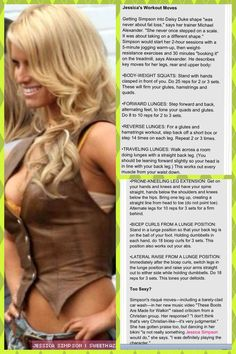 Jessica Simpson's Daisy Duke Workout