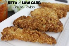 Keto & Low Carb Chicken Fingers  #chicken #chickenfingers #keto #ketochicken #ketodinner #ketofood #lowcarb #lowcarbchicken #lowcarbdinner #lowcarbfood #lowcarbs #recipe #ketogenic #atkins #lchf