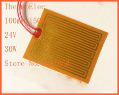 100mmx150mm 24V 30W ,heater heat rubber electric element heating pan Element For 3D Printer PI film heating film polyimide plate