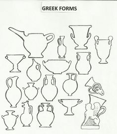 Your source for worksheets,slide shows, and teaching informaion created by Jake Allee Art History Lessons, Art Lessons, Ceramics Projects, Art Projects, Art Handouts, Greek Pottery, 6th Grade Art, Art Worksheets, Pottery Techniques