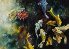 'Koi' by Katy Jade Dobson / oil painting / The 21 Grams Collection