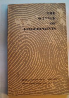 1957 Paperback The Science Of Fingerprints by F.B.I Manual Book by ThisChicksJewels on Etsy