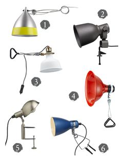 great selection of clip and clamp lights