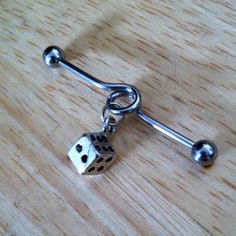 Industrial Barbell  Silver Dice Industrial by ChelseaJewels, $12.00