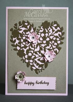Stampin' Up! Bloomin Hearts Thinlit die 4