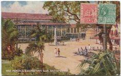 War memorial and the Georgetown Club, British Guiana circa 1925 (fr Andrew Jeffrey's photos)