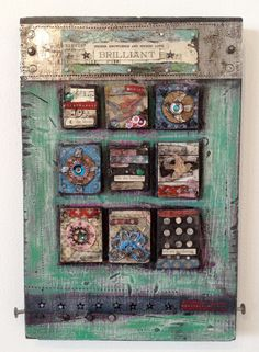 Higher Love & Higher Knowledge Mixed Media Wood Collage by kmichel, $90.00
