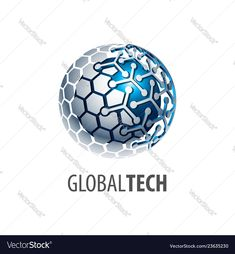Digital sphere global link technology logo vector image on VectorStock Great Logos, Logo Concept, Technology Logo, Three Dimensional, Adobe Illustrator, Vector Free, Logo Design, Pdf, Templates