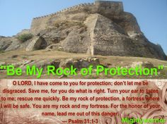 """The Infallible Word of God !!!: Psalm 31:1-3~~~ """"Be my rock of Protection """""""