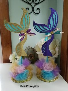 Mermaid Centerpiece/Mermaid Baby Shower Centerpiece/Mermaid | Etsy