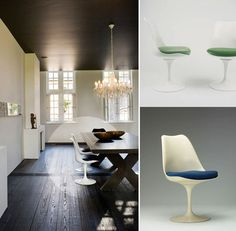 The always-fabulous Tulip chair,designed by Finnish American architect,Eero Saarinen in 1955 and 1956 for the Knoll company of New York City