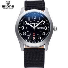 $29.99 (Buy here: https://alitems.com/g/1e8d114494ebda23ff8b16525dc3e8/?i=5&ulp=https%3A%2F%2Fwww.aliexpress.com%2Fitem%2FOriginal-SKONE-Brand-Fabric-Band-Men-s-Watches-24-hours-Week-Date-Display-Analog-Quartz-Watch%2F32642790654.html ) Original SKONE Brand Fabric Band Men's Watches 24 hours Week Date Display Analog Quartz Watch Fashion Casual relogio masculino for just $29.99