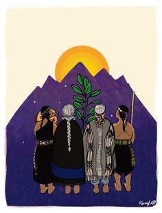Mapuches Indie Art, Art And Illustration, Arte Latina, La Colonisation, Denim Art, Mexico Art, Identity Art, Feminist Art, Paintings