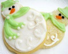 weihnachts kekse-zucker-schneemann