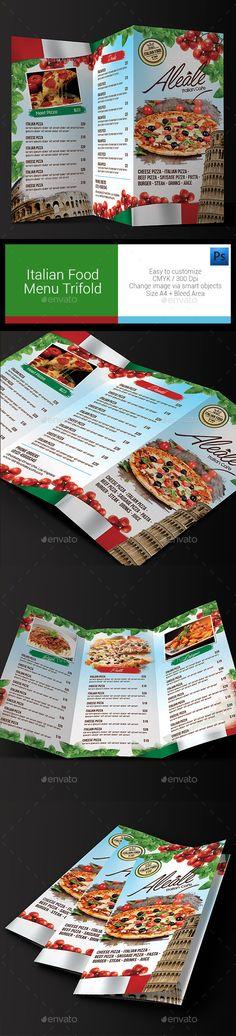 Modern Flat Food Menu Food menu, Food menu template and Menu - food menu template