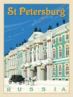 Anderson Design Group – World Travel – Russia: St. Petersburg - Anderson Design Group – World Travel – Russia: St. Poster Art, Poster Prints, Art Prints, Tourism Poster, Voyage Europe, Travel Illustration, Vintage Travel Posters, Travel Destinations, Adventure Travel
