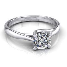 1 CARAT Diamond Solitaire Engagement Ring Round Cut F VS2 14k White Gold #MyDiamonds #Solitaire