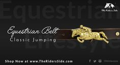 The Rider's Side Classic Jumping Equestrian Belt. A must have for every equestrian!!  Discover it on www.theridersside.com