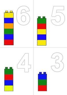 Montessori, Cute Powerpoint Templates, Legos, Bar Chart, Teacher, Kids, Lego Math, Maths Fun, Teaching Supplies