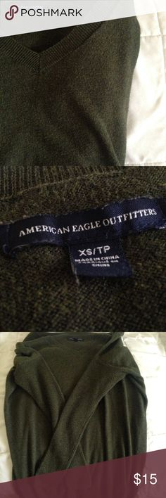 American Eagle Outfitters Longsleeve Top Like new, barely worn. No holes or stains. Beautiful fall olive green color. No trades  No paypal American Eagle Outfitters Tops Tees - Long Sleeve