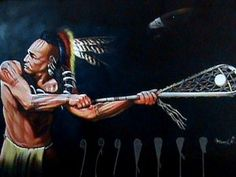 Akwesasne lacrosse. Love this mural. Wow!! Hubby would LOVE this in our house!!!