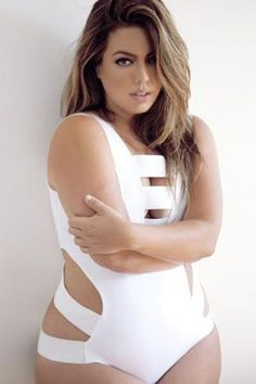 White Sexy Plus Size Bandage Cutout One-piece Swimsuit