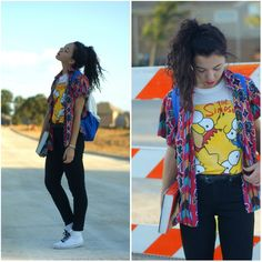 The Simpsons Tee <3 Image: http://lookbook.nu/look/3954344-Springfield More on The Simpsons Fashion: http://famecherry.com/fashionista-now/fashionista-now-the-simpsons-fashion-inspiration/