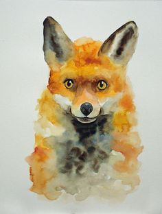 1000 images about watercolor paintings on pinterest for Easy animal paintings