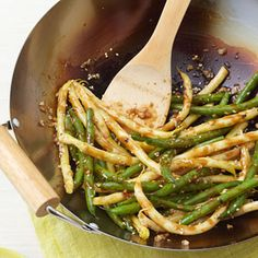 Skip the greasy takeout and try this easy stir-fry recipe. These Spicy Stir-fried String Beans take about 25 minutes to make. @EatingWell