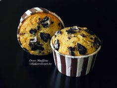 Chocolate Chip Topped Oreo Muffins