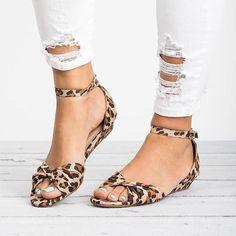 76d1158b5e9 Shop Women s Shoes - Plus Size Knotted Peep Toe Buckle Sandals online.  Discover unique designers