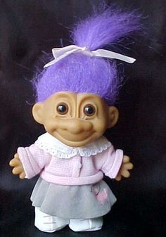 My sister used to make these incredibly intricate outfits for our troll dolls...they were actually her trolls, but I just couldn't resist!