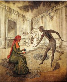"To get you in the mood: Saint-Saëns - Danse Macabre (with artwork ""Les Feuilles Mortes"" by Remedios Varo) Salvador Dali, Psychedelic Art, Michael Sowa, La Danse Macabre, Gary Baseman, Carnival Of The Animals, Vladimir Kush, Mary Blair, Mexican Artists"