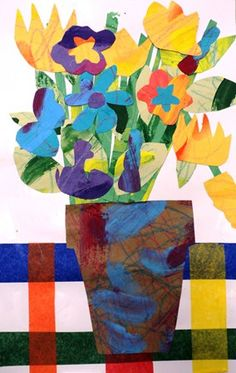 Eric Carle Floral Still Life