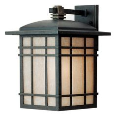 Quoizel HC8411IB Hillcrest 15 1/2-Inch Large Wall Lantern with Opaque Linen Glass Panels, Imperial Bronze Finish