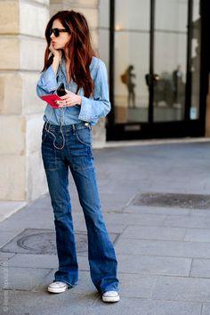 Paris – Stephanie LaCava. #PFW, #StephanieLaCava, #Fashion #DoubleDenim #FashionWeek, #France, #FW15, #HauteCouture, #Moda, #Mode, #Paris, #StephanieLaCava, #Street, #StreetStyle, #Style, #Woman, #Women Photo © Wayne Tippetts