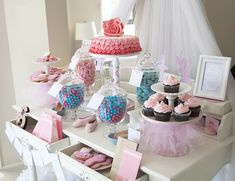 Pink and Blue Ballerina Party {Party Ideas, Decor, Cake}