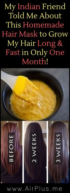 My Indian Friend Told Me About This Homemade Hair Mask to Grow My Hair Long & Fast in Only 1 Month!