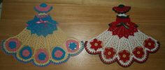 6 Crochet Doily Girl Pattern Lot Heart Poinsettia por vjf25 en Etsy