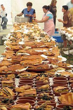 #Fiesta de la #anguila en Valga, #Galicia